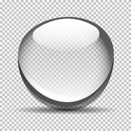 커다란 투명한 거품 그릇