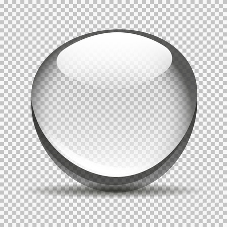 Transparent bubble bowl big Vectores