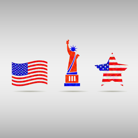 flag template: USA Independence day design template elements.  American National holiday signs. flag,  Patriot freedom Concept