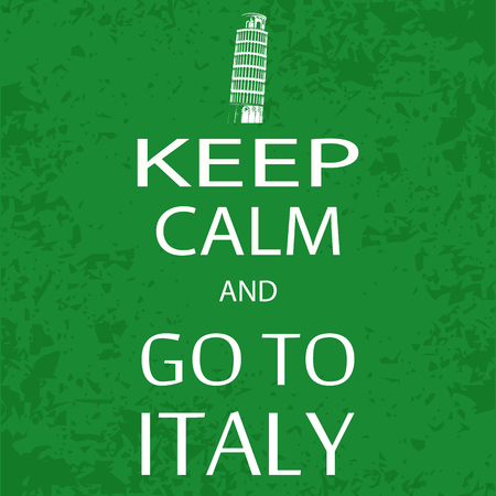 keep calm and carry on: banner keep calm and go to italy