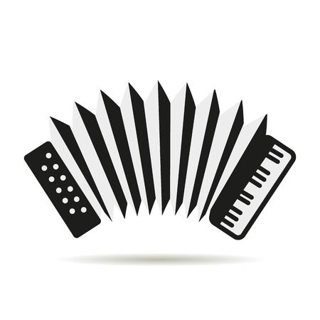 accordion: Accordion logo icon Illustration