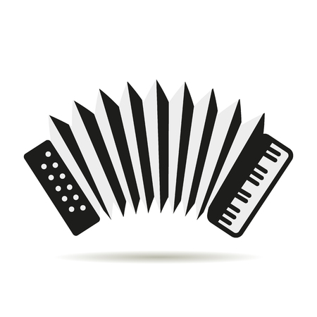 Accordion logo icon Illustration
