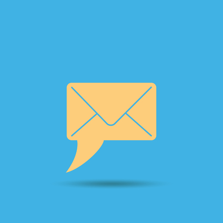 email: Email marketing symbol. a letter in the form of a dialogue bubble Illustration