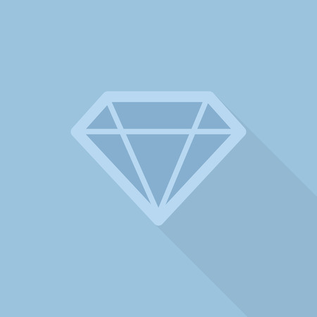faceting: diamond flat style with long shadow