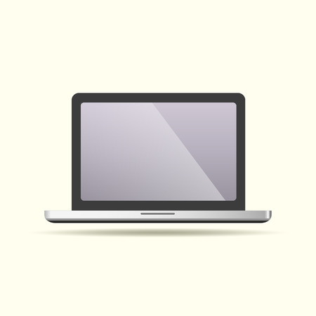 laptop isolated: Modern glossy laptop isolated on white background