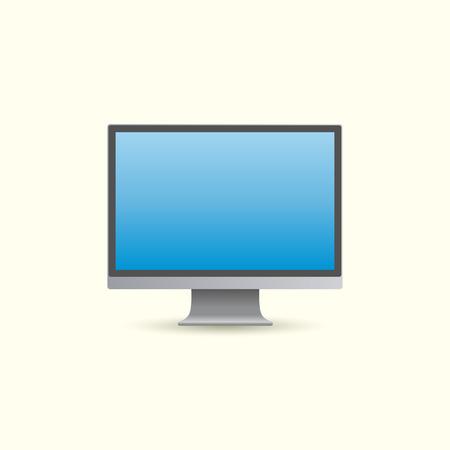monitor de computadora: monitor de ordenador realista