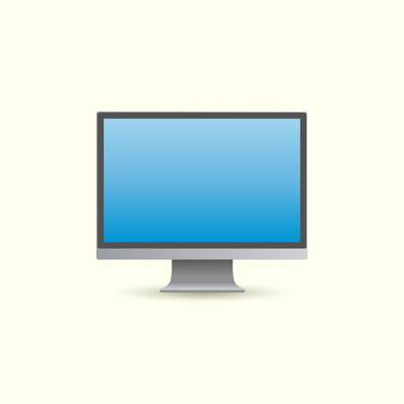 modern monitor: realistic computer monitor Illustration