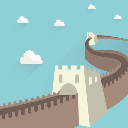 china wall: la gran Muralla China