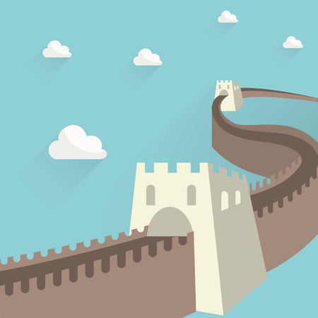 china art: the great wall of china Illustration