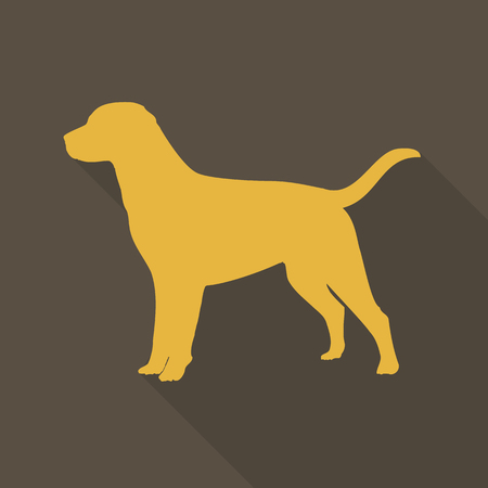 labrador puppy: dog  icon with shadow