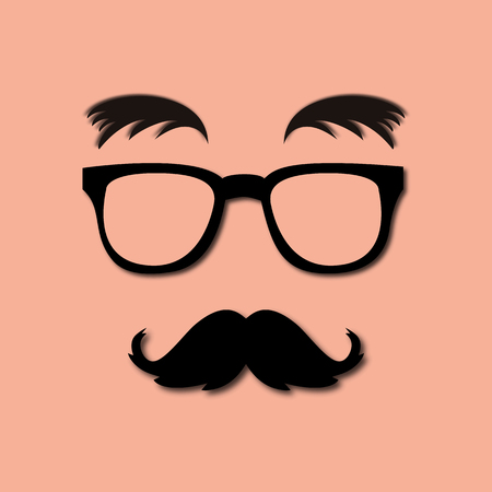 comedy disguise: glasses, mustache and eyebrows lush Illustration