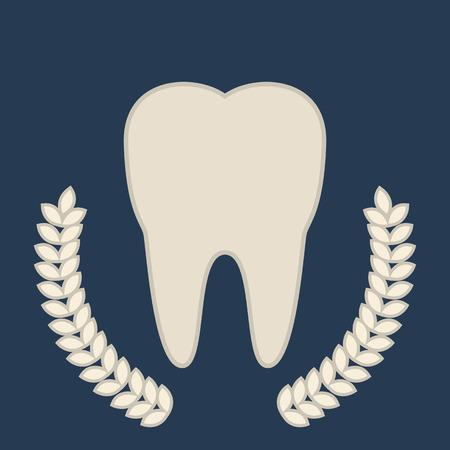 symbol tooth. beautiful emblem Illustration