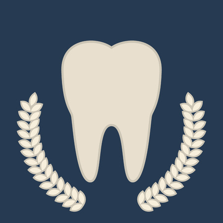 symbol tooth. beautiful emblem Stock Illustratie