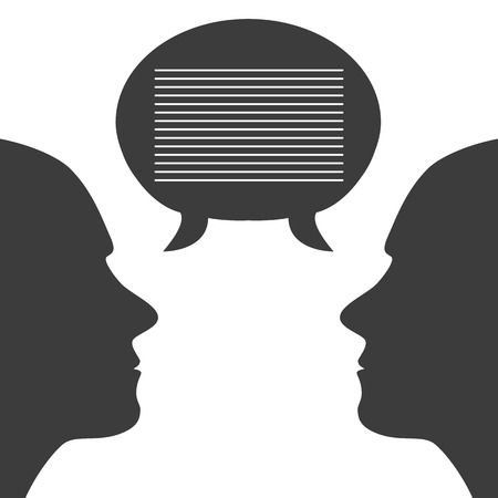 communication with speech bubbles