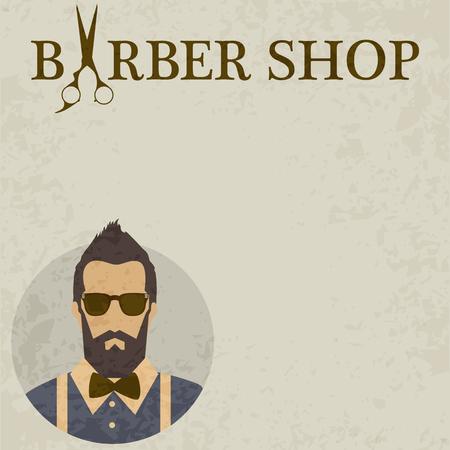 beauty shop: Barber Shop or Hairdresser Illustration