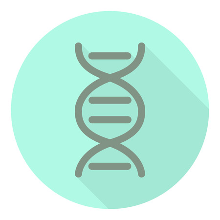 blue dna: DNA icon. Single flat color icon