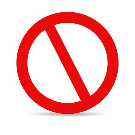 interdiction: Arrêt Rouge Illustration