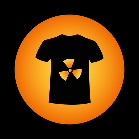 contamination: T-shirt and a sign of chemical contamination Illustration