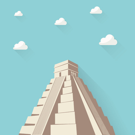 Great Pyramid of Giza or Pyramid of Khufu or Cheops in Cairo Egypt. Illustration