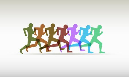 relay: logo relay, running, marathon. running man Illustration