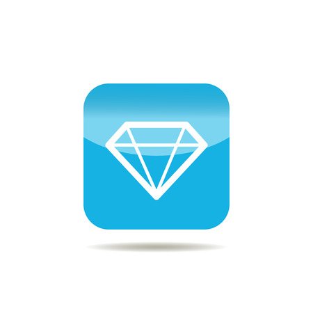 gemstone: Diamond icon. Brilliant gemstone sign