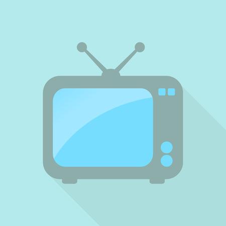 tv set: Cute retro TV set