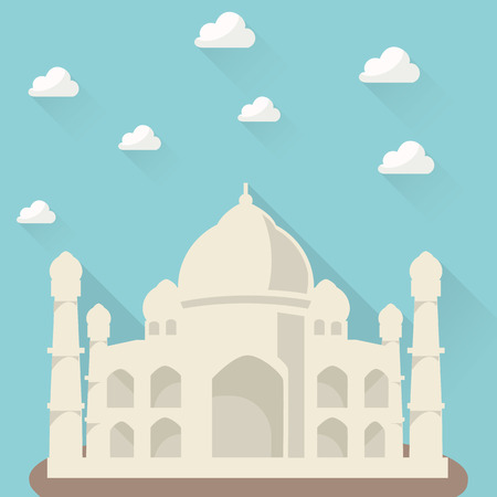 agra: Taj Mahal - Cartoon Background