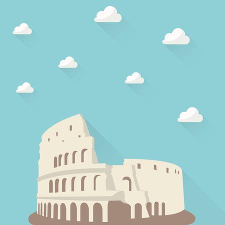 Coliseum background Illustration