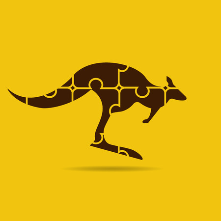 outback: kangaroo icon of puzzles