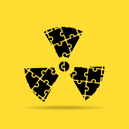 contamination: symbol of chemical contamination of the icon puzzle Illustration