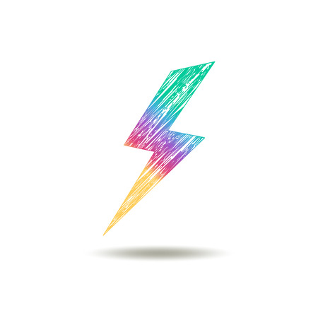 perilous: painted Lightning in rainbow colors Illustration