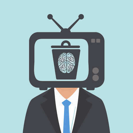 degradation: watching TV the human brain to become stupid