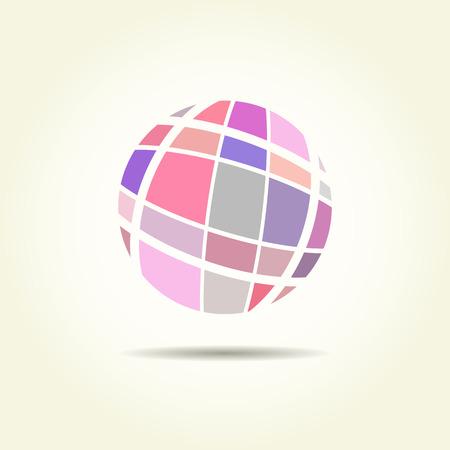 globe logo: abstract earth, globe logo design. Globe logo icon, template. Round globe shape and earth globe symbol, technology icon, geometric logo for company