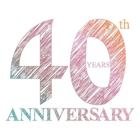 40th: A painted the logo of the 40th anniversary with a circle. Number of years
