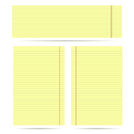 yellow notepad: set of yellow sheet for Business