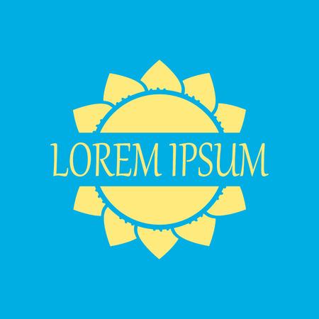 logo: sun logo. Sun concept