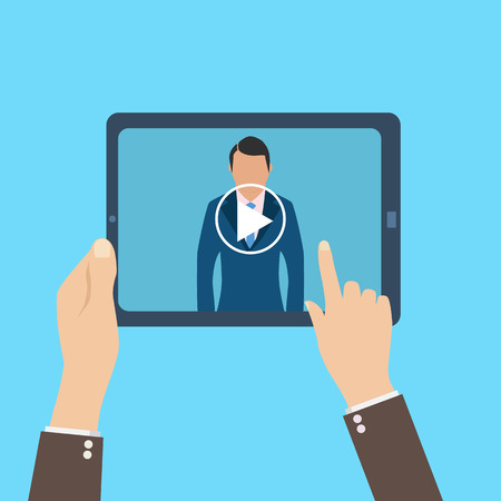 webinar, online conference, lectures and training in internet.