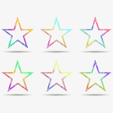star: Leader boss star, winner, star rating, rank. Star astrology symbol.