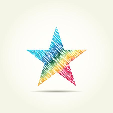 star logo: star logo painted rainbow colors