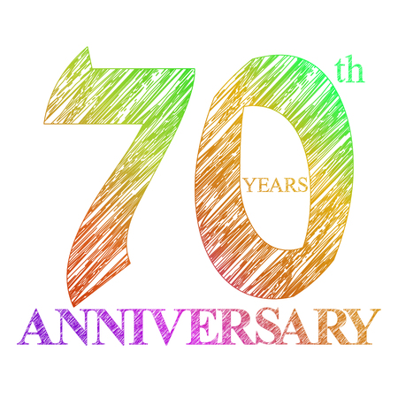 template logo with a circle for anniversary. 70