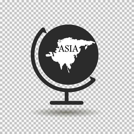 the mainland: Globe with the mainland. Asia Illustration