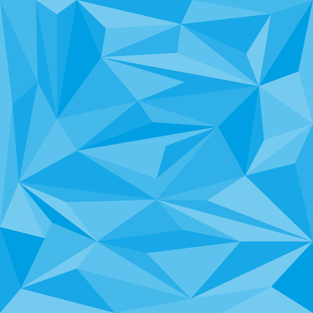 rumpled: blue abstract geometric rumpled triangular low poly style  graphic background