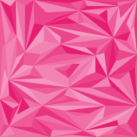 rumpled: pink abstract geometric rumpled triangular low poly style  graphic background Illustration