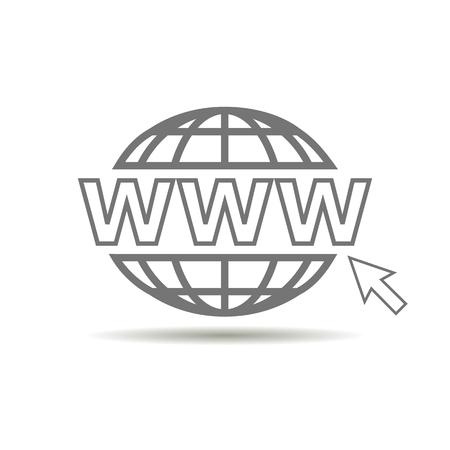 address: website icon logo with shadow