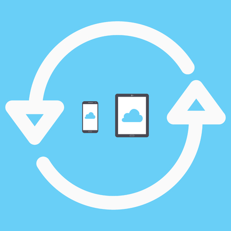 via: Sync devices. phone and tablet via the cloud