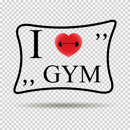 fitness motivation: I Love Gym Workout and Fitness Motivation Quote