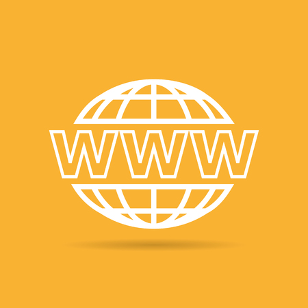 website: website icon on yellow background