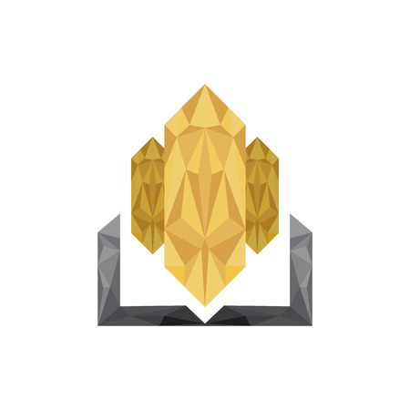 ceo: Real estate building CEO business company. low poly design in triangles