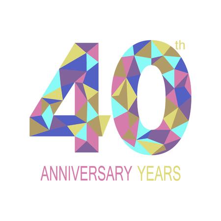 40: 40 anniversary.  Illustration