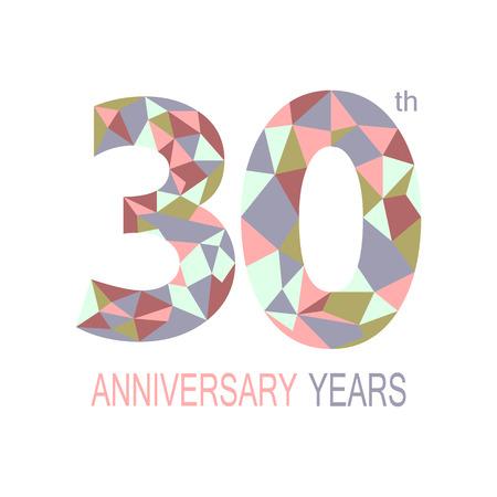 thirty: 30 anniversary.